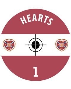 HEARTS DECALS. (24 base stickers with badge, name & numbers)