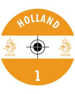HOLLAND DECALS. (24 base stickers with badge, name & numbers)