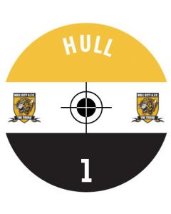 HULL CITY DECALS. (24 base stickers with badge, name & numbers)
