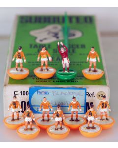 HW013. BLACKPOOL. HOLLAND. Mid 70's HW team, numbered box. Numbers Written On The Shirts.