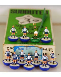 HW051. BRIGHTON. SHEFFIELD WED. CHESTER. Mid 70's Team, numbered box.