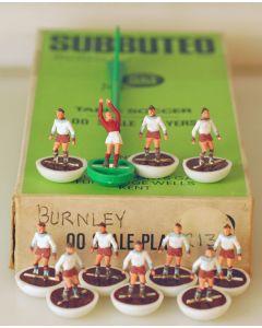 HW080. BURNLEY 2ND. Early 70's HW team, original box. White Bases, Claret Discs.