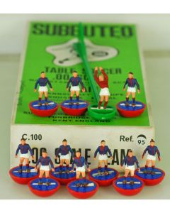 HW095. BOLOGNA. Mid 70's HW Team, numbered box. Rare Red Base, Blue Discs.