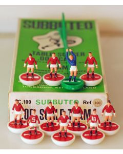 HW100. MANCHESTER UTD. Late 70's HW Team, numbered box. Numbers Painted On Shirts.