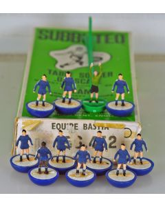 HW143. BASTIA. Late 70's French Delacoste HW Team. Original Named & Numbered Box. Two Repaired Players.