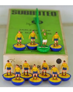 HW160. RUMANIA. Early 70's HW team, original box. Blue Bases, Yellow Discs.