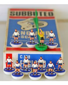 HW317. ENGLAND. Mid 70's HW team, Original C138 Named Jubilee Box. Very Rare Reverse Bases:  White Bases, Blue Discs.