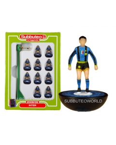 INTER 2008. Retro Subbuteo Team. Modelled on the LW Figure & Bases From the 1980's. Some Box Damage.