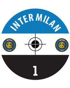 INTER MILAN DECALS. (24 base stickers with badge, name & numbers)