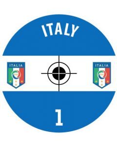 ITALY DECALS. (24 base stickers with badge, name & numbers)