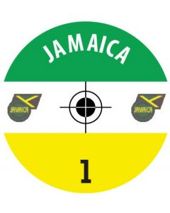 JAMAICA DECALS. (24 base stickers with badge, name & numbers)
