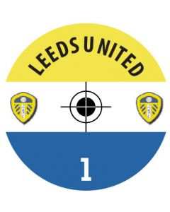 LEEDS UTD DECALS. (24 base stickers with badge, name & numbers)
