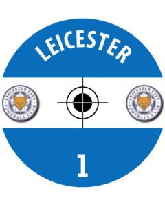 LEICESTER DECALS. (24 base stickers with badge, name & numbers)