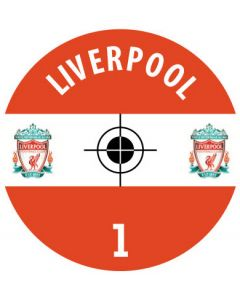 LIVERPOOL DECALS. (24 base stickers with badge, name & numbers)