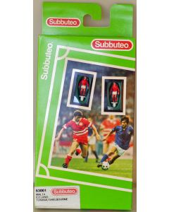 LW001. MALTA. ICELAND. TUNISIA. SHELBOURNE. Late 90's Hasbro LW Team, numbered box. Solid Red Bases.