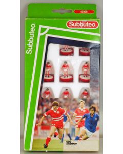LW695. DENMARK. Early 90's LW team, numbered box. Red Bases, White Discs.