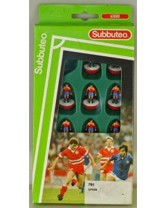 LW791. SPAIN. Early 90's LW team, numbered box. Red Bases, White Discs.