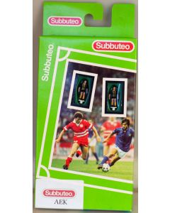 63000. AEK ATHENS. 2002 Hand Painted Green Box Hasbro LW Subbuteo Team. Produced By Edilio Parodi.