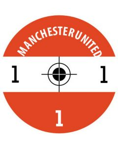 MANCHESTER UTD DECALS. (24 base stickers with badge, name & numbers)