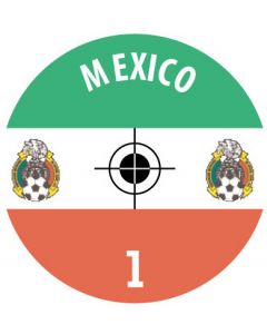 MEXICO DECALS. (24 base stickers with badge, name & numbers)