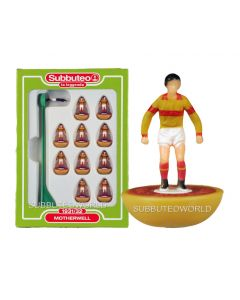 MOTHERWELL. Retro Subbuteo Team. Modelled on the LW Figure & Bases From the 1980's.