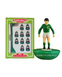 NORTHERN IRELAND. Retro Subbuteo Team. Modelled on the LW Figure & Bases From the 1980's.