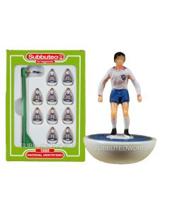 NACIONAL MONTEVIDEO. Retro Subbuteo Team. Modelled on the LW Figure & Bases From the 1980's.
