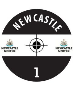 NEWCASTLE DECALS. (24 base stickers with badge, name & numbers)