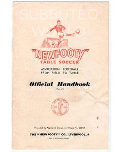 1952-53 ORIGINAL NEWFOOTY HANDBOOK.