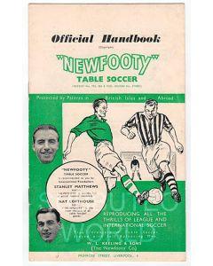 1956-57 ORIGINAL NEWFOOTY HANDBOOK.