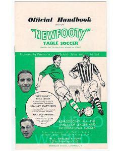 1957-58 ORIGINAL NEWFOOTY HANDBOOK.