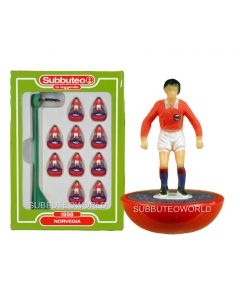 NORWAY. Retro Subbuteo Team. Modelled on the LW Figure & Bases From the 1980's.