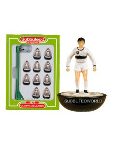 OLIMPIA ASUNCION. Retro Subbuteo Team. Modelled on the LW Figure & Bases From the 1980's.