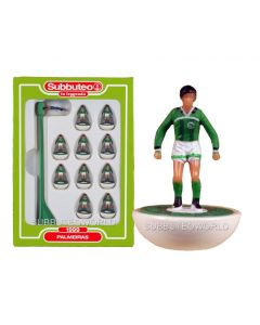 PALMEIRAS. Retro Subbuteo Team. Modelled on the LW Figure & Bases From the 1980's.