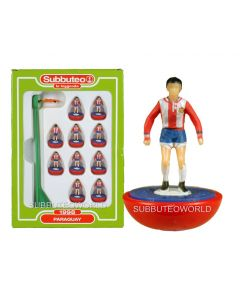 PARAGUAY. Retro Subbuteo Team. Modelled on the LW Figure & Bases From the 1980's.