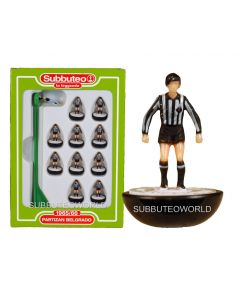PARTIZAN BELGRADE. Retro Subbuteo Team. Modelled on the LW Figure & Bases From the 1980's.