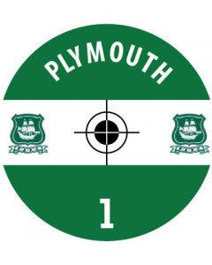 PLYMOUTH DECALS. (24 base stickers with badge, name & numbers)