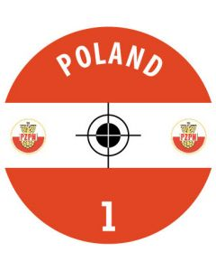 POLAND DECALS. (24 base stickers with badge, name & numbers)