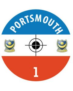 PORTSMOUTH DECALS. (24 base stickers with badge, name & numbers)