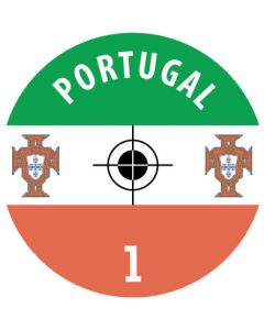 PORTUGAL DECALS. (24 base stickers with badge, name & numbers)