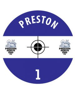 PRESTON DECALS. (24 base stickers with badge, name & numbers)