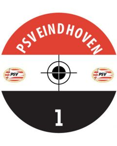 PSV EINDHOVEN DECALS. (24 base stickers with badge, name & numbers)