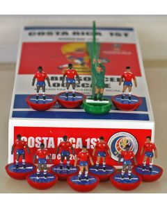 01. COSTA RICA 1ST 2018 WORLD CUP. Ltd Edition Hand Painted Team. Red Base, Blue Disc.