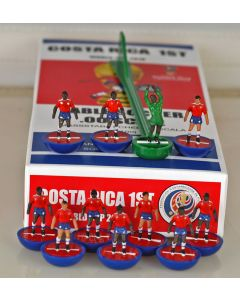 01. COSTA RICA 1ST 2018 WORLD CUP. Ltd Edition Hand Painted Team. Blue Base, Red Disc.