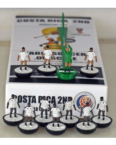 01. COSTA RICA 2ND 2018 WORLD CUP. Ltd Edition Hand Painted Team. Black Base, White Disc.
