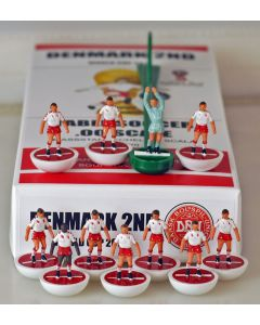 01. DENMARK 2ND 2018 WORLD CUP. Ltd Edition Hand Painted Team. White Base, Red Disc.