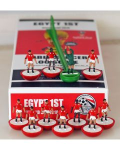 01. EGYPT 1ST 2018 WORLD CUP. Ltd Edition Hand Painted Team. Red Base, White Disc.