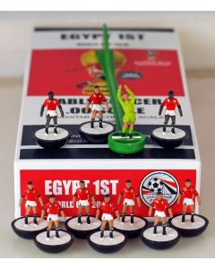 01. EGYPT 1ST 2018 WORLD CUP. Ltd Edition Hand Painted Team. Black Base, White Disc.