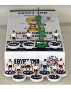 01. EGYPT 2ND 2018 WORLD CUP. Ltd Edition Hand Painted Team. White Base, Black Disc.