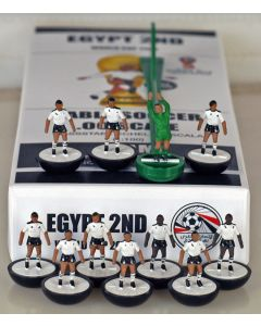01. EGYPT 2ND 2018 WORLD CUP. Ltd Edition Hand Painted Team. Black Base, White Disc.